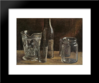 Stilleben Mit Glasern:  Modern Black Framed Art Print by Arthur Segal