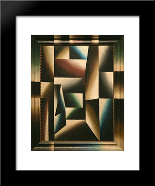 Street In Heligoland Ii:  Modern Black Framed Art Print by Arthur Segal