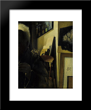 The Artist In The Studio:  Modern Black Framed Art Print by Arthur Segal