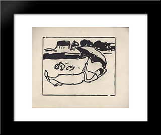 Vom Strande. Page 1:  Modern Black Framed Art Print by Arthur Segal