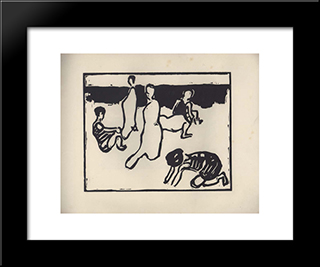 Vom Strande. Page 11:  Modern Black Framed Art Print by Arthur Segal