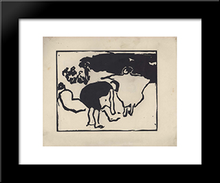 Vom Strande. Page 5:  Modern Black Framed Art Print by Arthur Segal