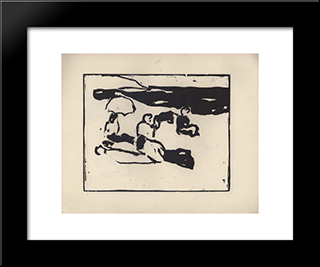 Vom Strande. Page 7:  Modern Black Framed Art Print by Arthur Segal