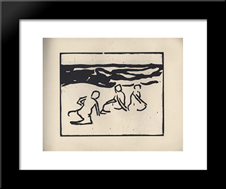 Vom Strande. Page 9:  Modern Black Framed Art Print by Arthur Segal