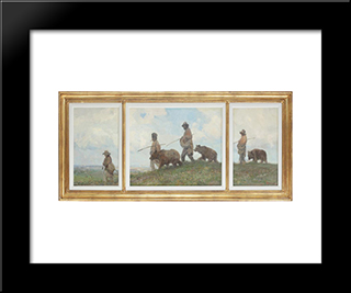 Bear Leaders:  Modern Black Framed Art Print by Arthur Verona