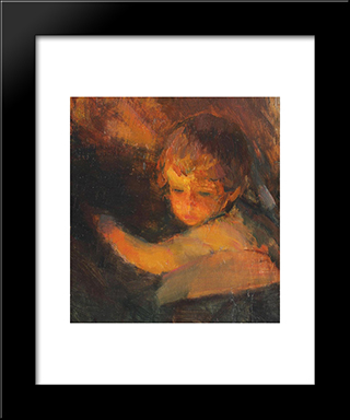 Child (Study):  Modern Black Framed Art Print by Arthur Verona