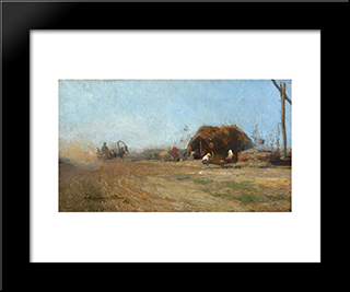 Country Road:  Modern Black Framed Art Print by Arthur Verona