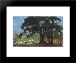 Field Festivity:  Modern Black Framed Art Print by Arthur Verona