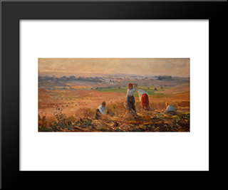 Harvest:  Modern Black Framed Art Print by Arthur Verona