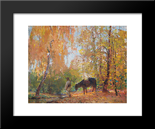 In The Forest:  Modern Black Framed Art Print by Arthur Verona