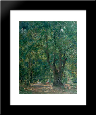 In The Hertza Forest:  Modern Black Framed Art Print by Arthur Verona