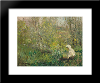 Peasant Woman Resting:  Modern Black Framed Art Print by Arthur Verona