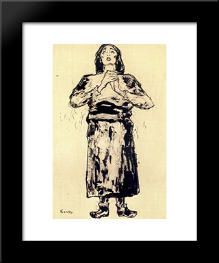 A Woman:  Modern Black Framed Art Print by Arturo Souto