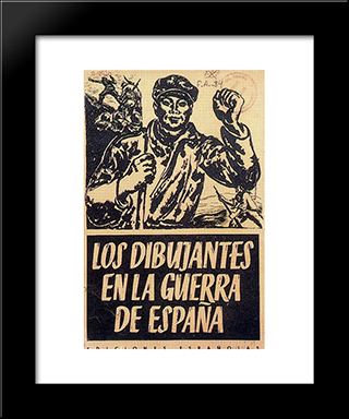 Album Cover 'The Artists Are On The War In Spain':  Modern Black Framed Art Print by Arturo Souto