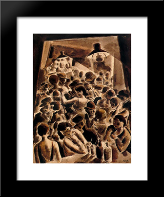 Ball:  Modern Black Framed Art Print by Arturo Souto