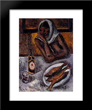 Black:  Modern Black Framed Art Print by Arturo Souto