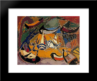 Boats:  Modern Black Framed Art Print by Arturo Souto