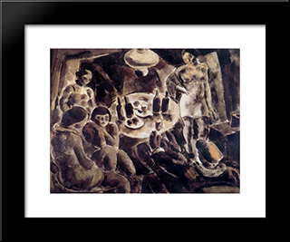 Brothel:  Modern Black Framed Art Print by Arturo Souto