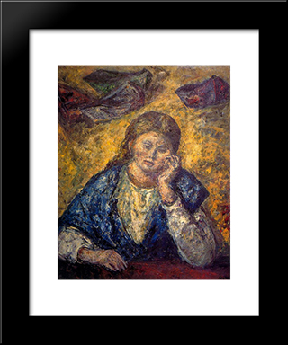 Bust Of Woman:  Modern Black Framed Art Print by Arturo Souto