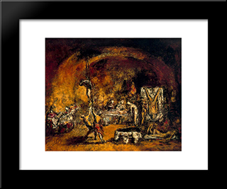 Chamber Of Torture:  Modern Black Framed Art Print by Arturo Souto