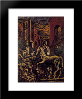Classical Ruins (View Of Rome):  Modern Black Framed Art Print by Arturo Souto
