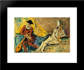 Clowns:  Modern Black Framed Art Print by Arturo Souto