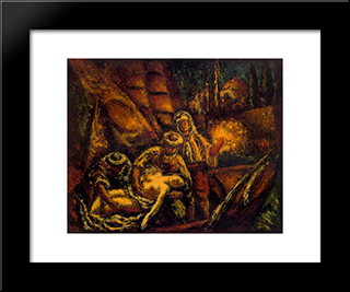 Composition (Rapture):  Modern Black Framed Art Print by Arturo Souto