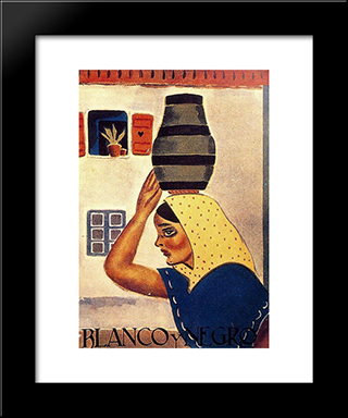 Cover Of Blanco Y Negro:  Modern Black Framed Art Print by Arturo Souto