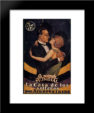 Cover Of La Casa De Los Solteros By Alberto Insua:  Modern Black Framed Art Print by Arturo Souto