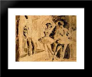 Dance Class:  Modern Black Framed Art Print by Arturo Souto