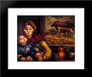 Double Maternity:  Modern Black Framed Art Print by Arturo Souto