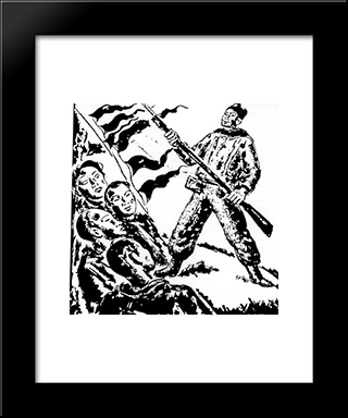 Enthusiasm Of Fighting:  Modern Black Framed Art Print by Arturo Souto
