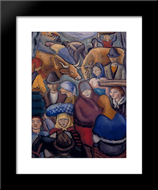 Fair:  Modern Black Framed Art Print by Arturo Souto