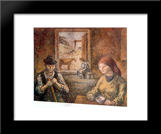 Galician Interior:  Modern Black Framed Art Print by Arturo Souto