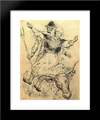 Galician Scene:  Modern Black Framed Art Print by Arturo Souto