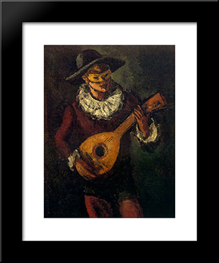 Harlequin:  Modern Black Framed Art Print by Arturo Souto