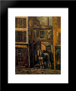 Horse:  Modern Black Framed Art Print by Arturo Souto