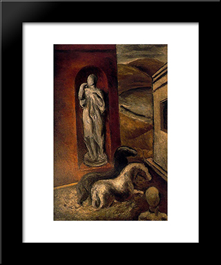 Horses By The Water:  Modern Black Framed Art Print by Arturo Souto