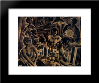 Inn At Port:  Modern Black Framed Art Print by Arturo Souto