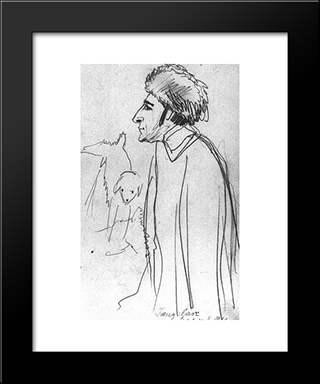 Franz Marc With Russi:  Modern Black Framed Art Print by August Macke