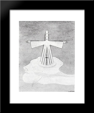 Antichrist:  Modern Black Framed Art Print by August Natterer
