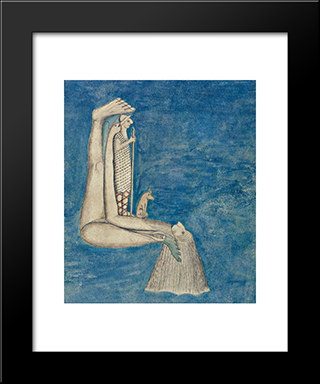 Der Wunderhirthe:  Modern Black Framed Art Print by August Natterer