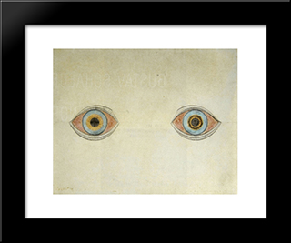 My Eyes In The Time Of Apparition:  Modern Black Framed Art Print by August Natterer