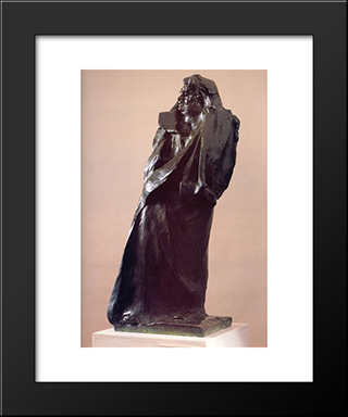 Balzac:  Modern Black Framed Art Print by Auguste Rodin