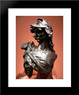 Bellona:  Modern Black Framed Art Print by Auguste Rodin