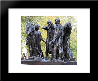 Burghers Of Calais:  Modern Black Framed Art Print by Auguste Rodin