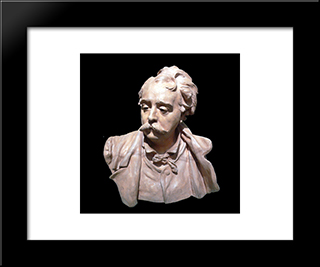 Bust Of Albert Ernest Carrier Belleuse:  Modern Black Framed Art Print by Auguste Rodin