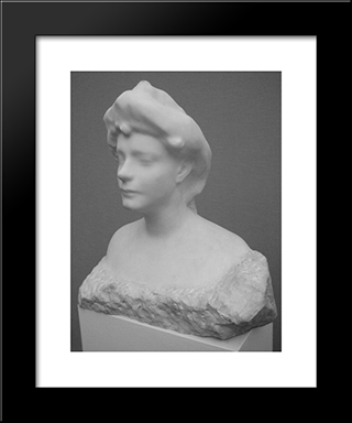 Bust Of Helene Von Nostitz:  Modern Black Framed Art Print by Auguste Rodin