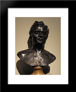 Bust Of Honore De Balzac:  Modern Black Framed Art Print by Auguste Rodin