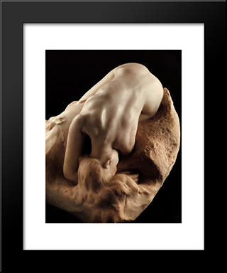 Danaid:  Modern Black Framed Art Print by Auguste Rodin